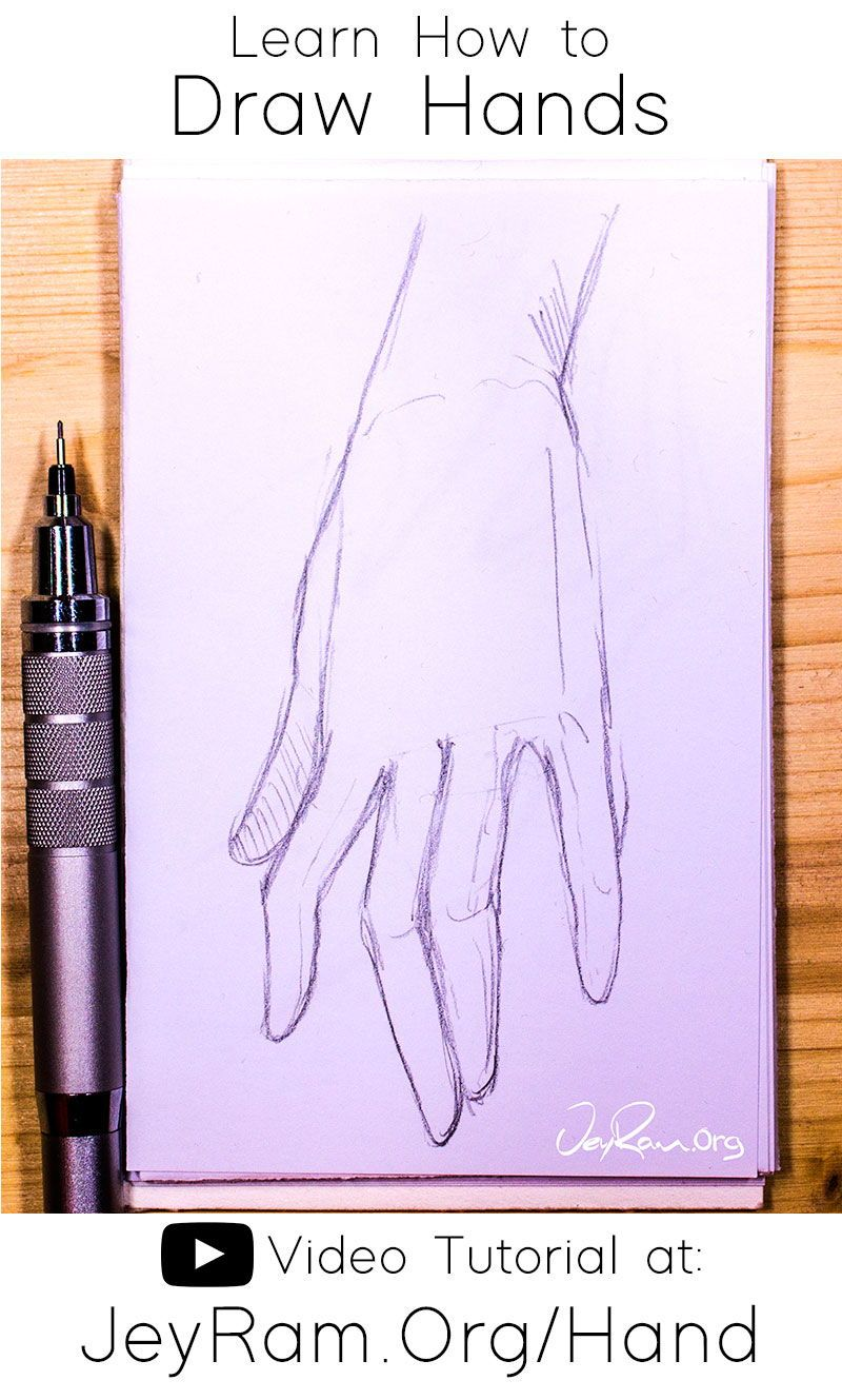 How To Draw Hands Video Tutorial Free Worksheet In 2020 How To Draw Hands Tutorial Free Hand Drawing