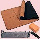4PCS Ecofriendly Cork Yoga Mat Set Nonslip Organic  Natural Rubber W3inch 4PCS Ecofriendly Cork Yoga Mat Set Nonslip Organic  Natural Rubber W3inch