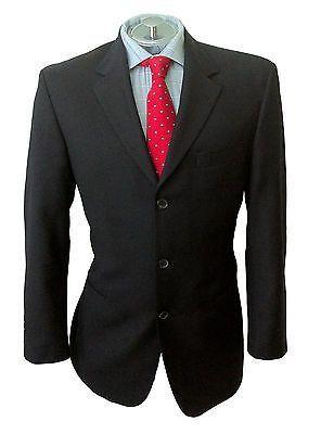 Hugo Boss Mens EINSTEIN Black Wool Sport Coat Jacket Blazer Sz 40S
