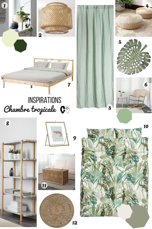 MOODBOARD – La chambre tropicale  Chambres tropicales, Déco
