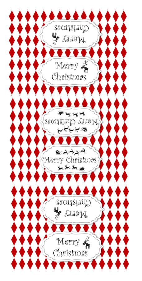 Free printable diy christmas treat bag toppers baggie