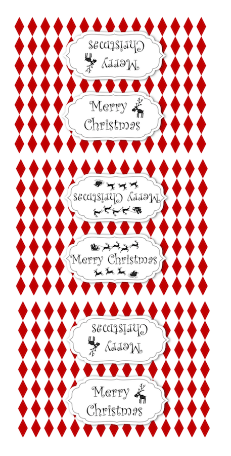 picture regarding Christmas Bag Toppers Free Printable called Absolutely free printable Do it yourself Xmas deal with bag toppers Printables
