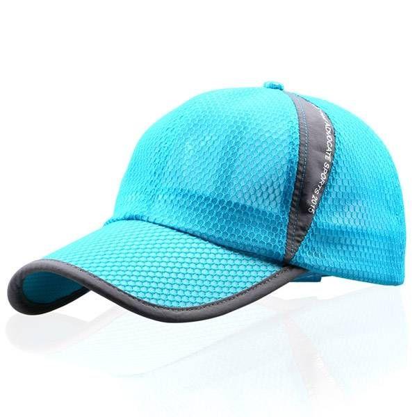 9940f292372 Unisex Men Women Mesh Breathable Summer Hat Sport Adjustable Buckle Baseball  cap at Banggood