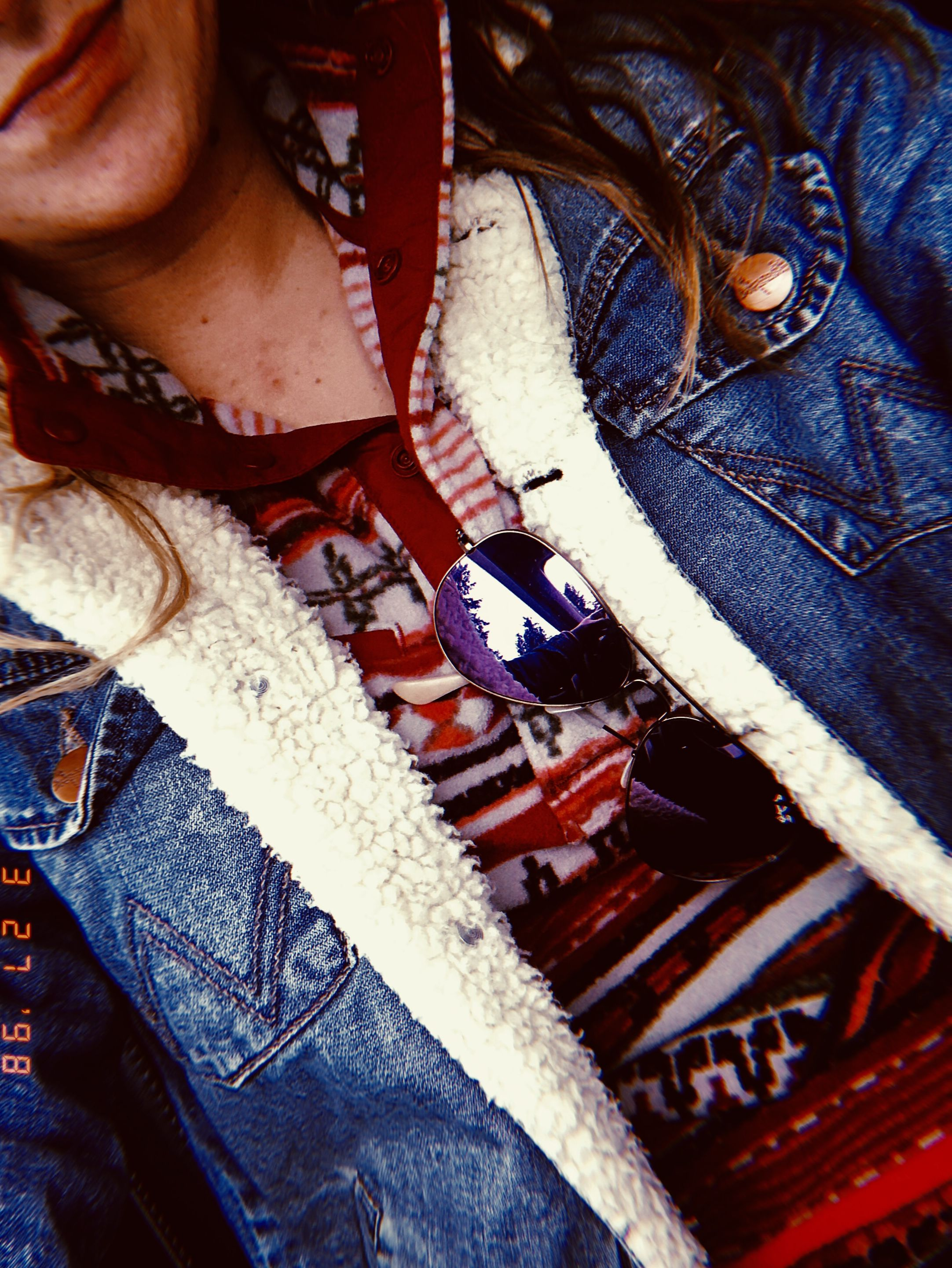 Wrangler Jean Jacket Aztec Sweater Western Chic Fashion Country Style Outfits Country Jeans [ 2881 x 2164 Pixel ]