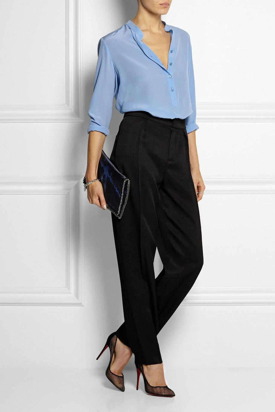 Stella McCartney | Eve silk crepe de chine blouse | NET-A-PORTER.COM