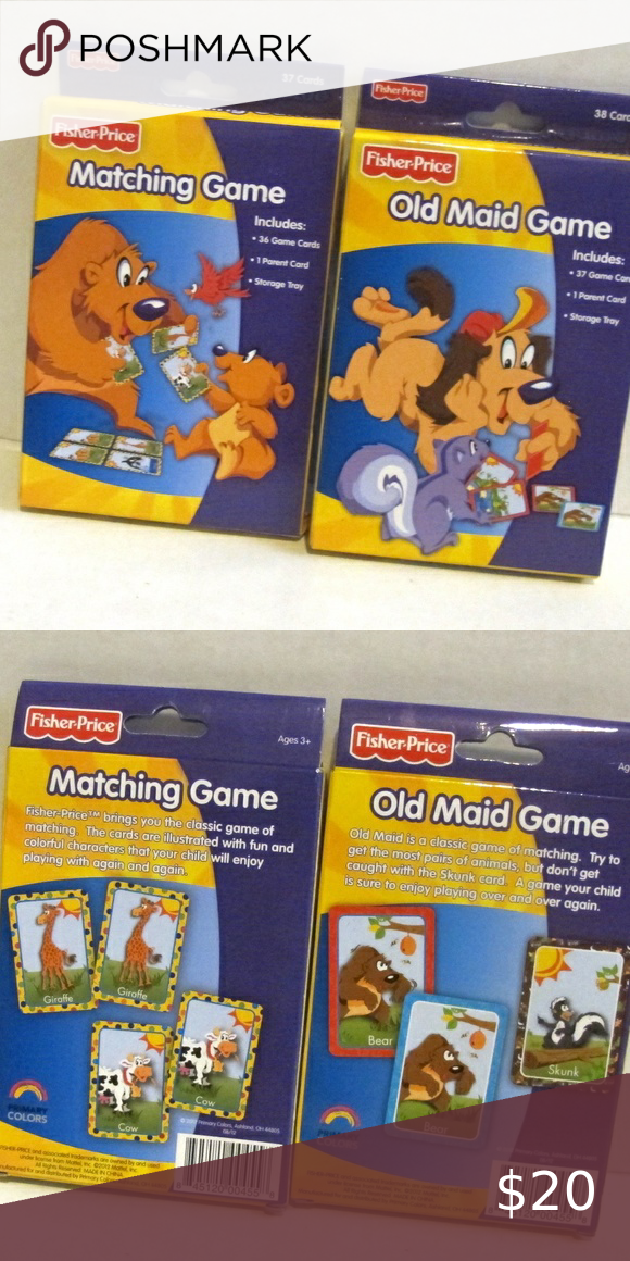 Fisher Price lot of 2 Old Maid & Matching Card Gam in 2020