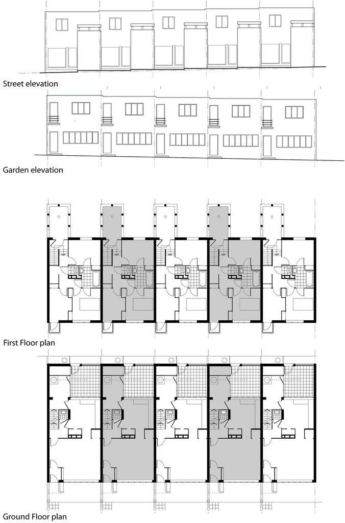 Row Houses Modern Architecture Design Van Der Rohe Mies Van Der Rohe