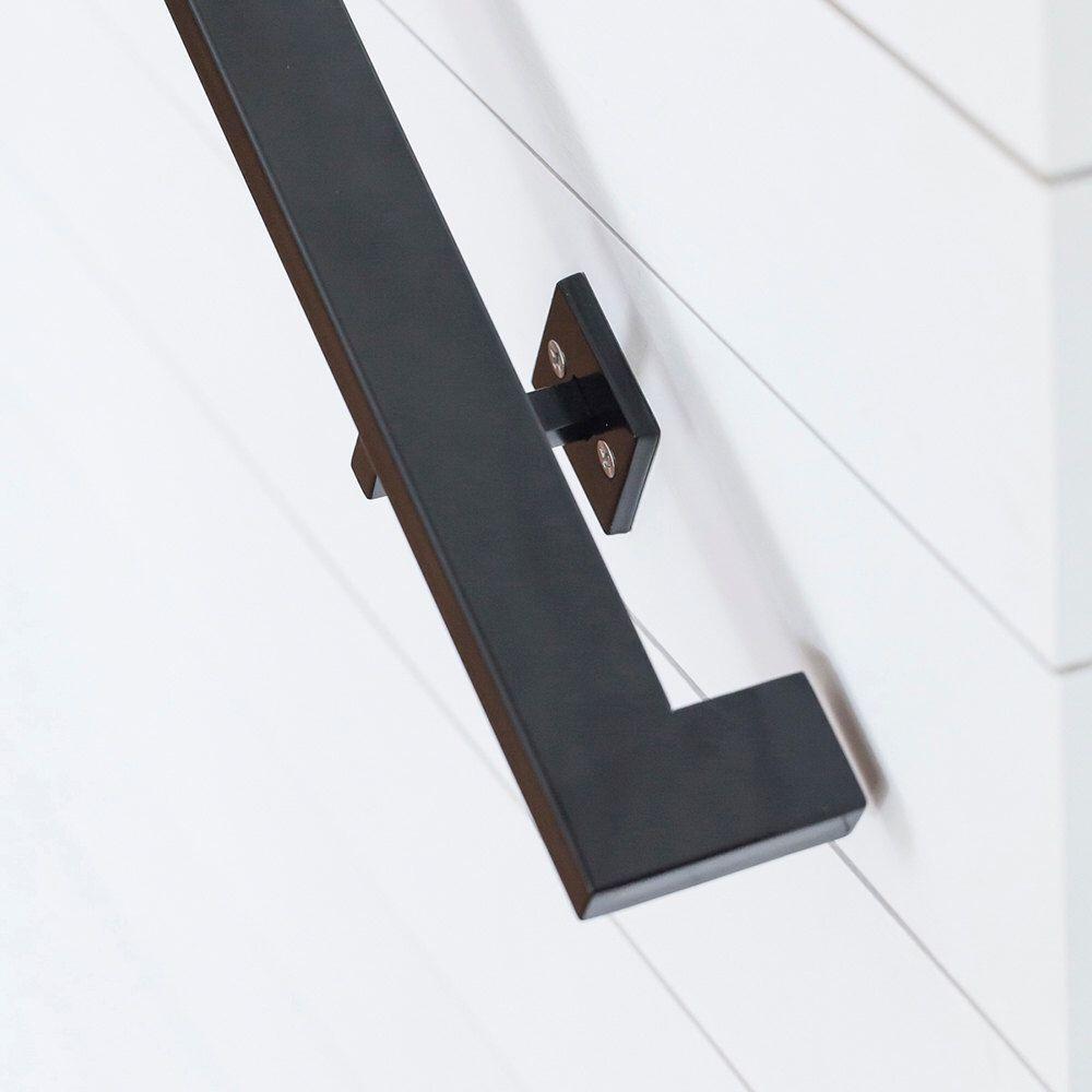 Modern Profile Handrail 5Ft Tube Steel Hand Rail Wall | Modern Stair Handrail Wall Mounted