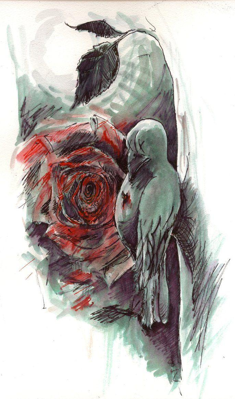 The Nightingale And The Rose by NingerGinjaaahh | Death & Fairy ...
