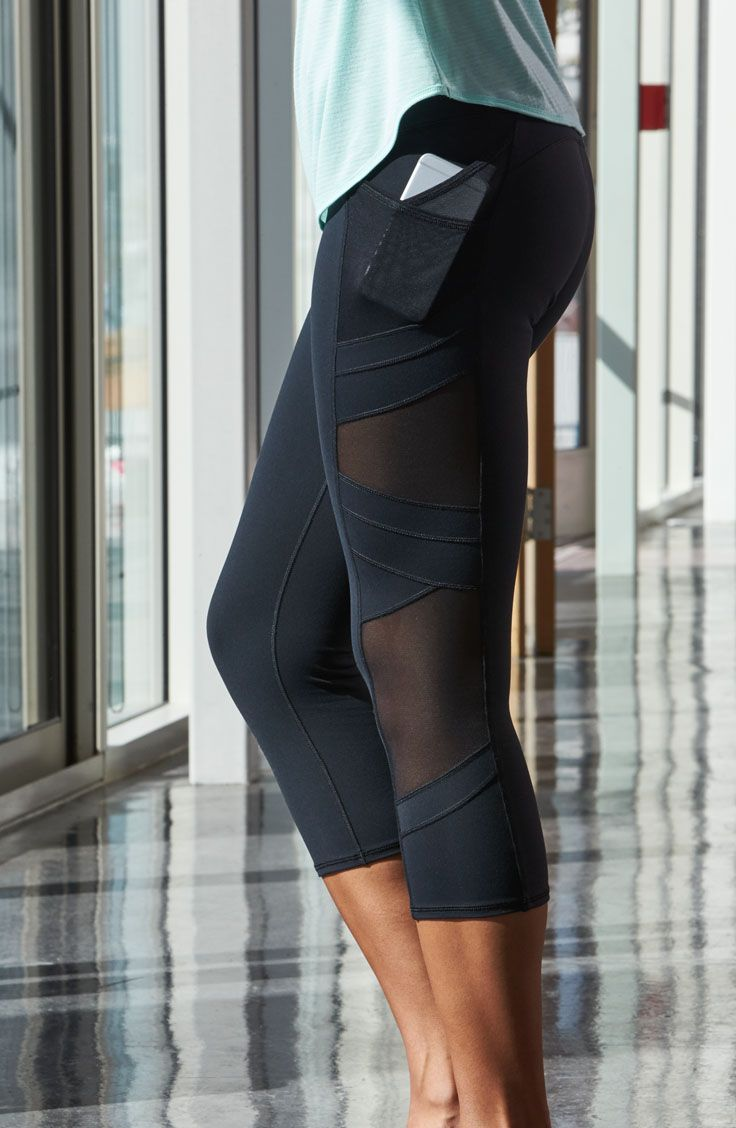 47f978f01c3bb Strike a yoga pose in comfort and style with the CALIA™ by Carrie Underwood  Women's Mesh Pocket Capris. Mesh pieces on each leg bring breathability and  edgy ...