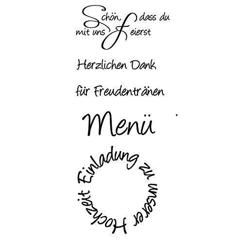 "Efco Stempel Clear ""Danke"" transparent A7// 74 x 105 mm 5-teilig"