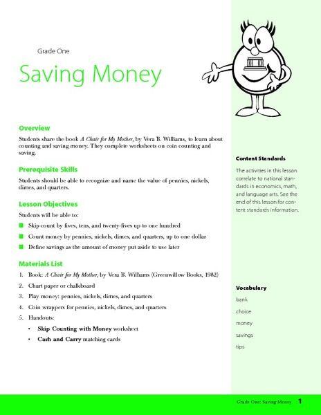 saving money lesson plan lesson planet science and social studies lesson plans money. Black Bedroom Furniture Sets. Home Design Ideas
