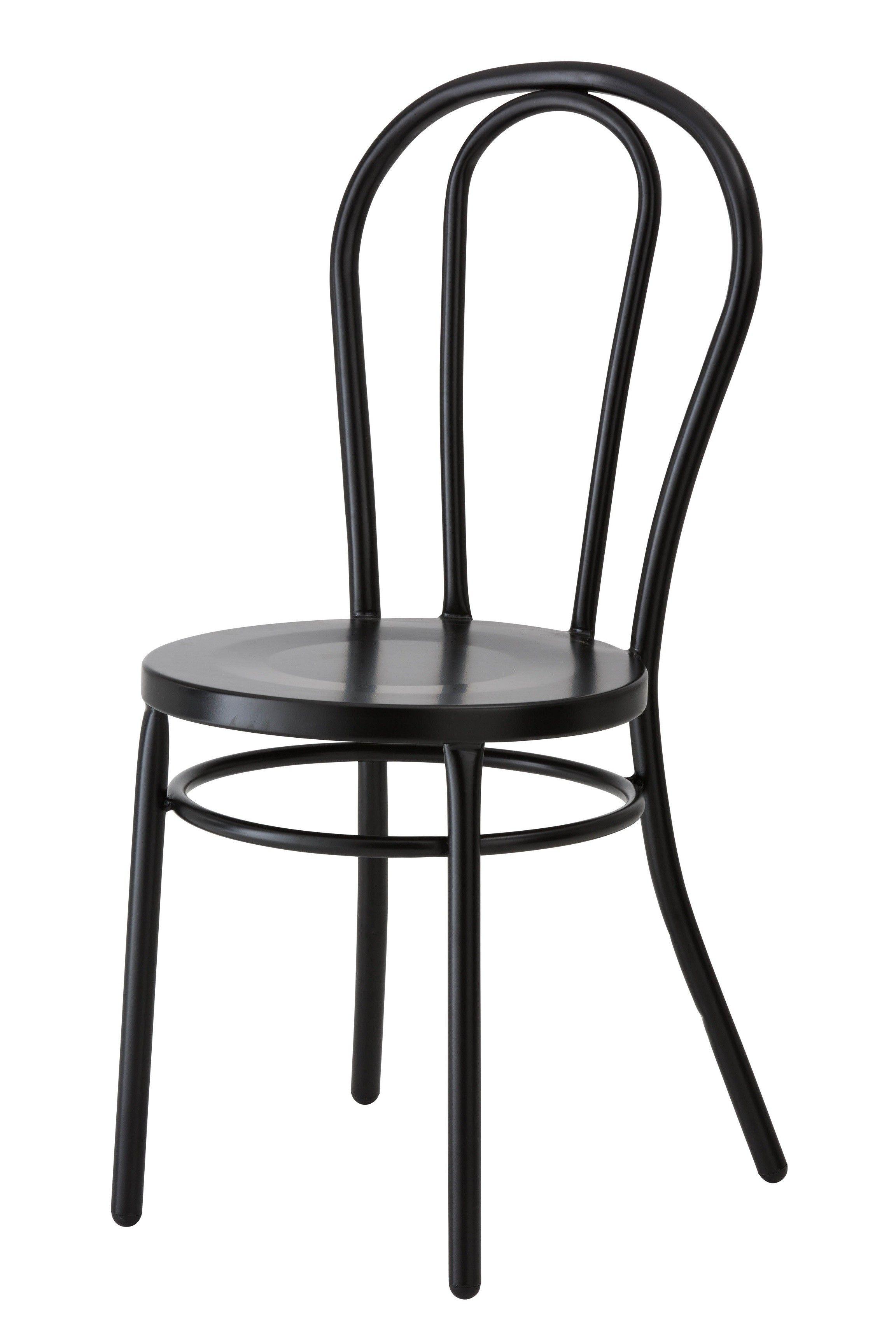 Paris Bentwood Steel Chair Reproduction Matt Black