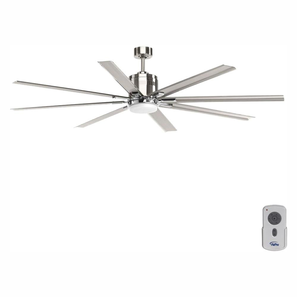 Progress Lighting Vast Collection 72 In Led Indoor Brushed Nickel Industrial Ceiling Fan With Light Kit And Remote P2550 0930k In 2020 Ceiling Fan Industrial Ceiling Fan Progress Lighting