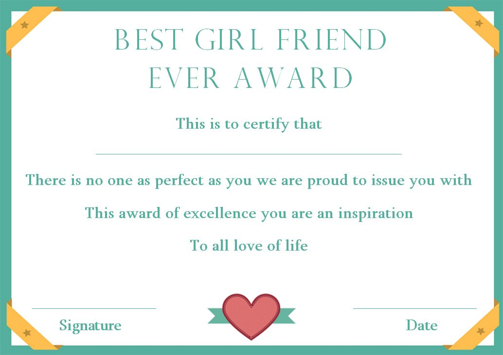 Surprise Your Girlfriend Using These 16 Best Girlfriend Certificate Templates Template S Surprise Your Girlfriend Certificate Templates Best Girlfriend Ever