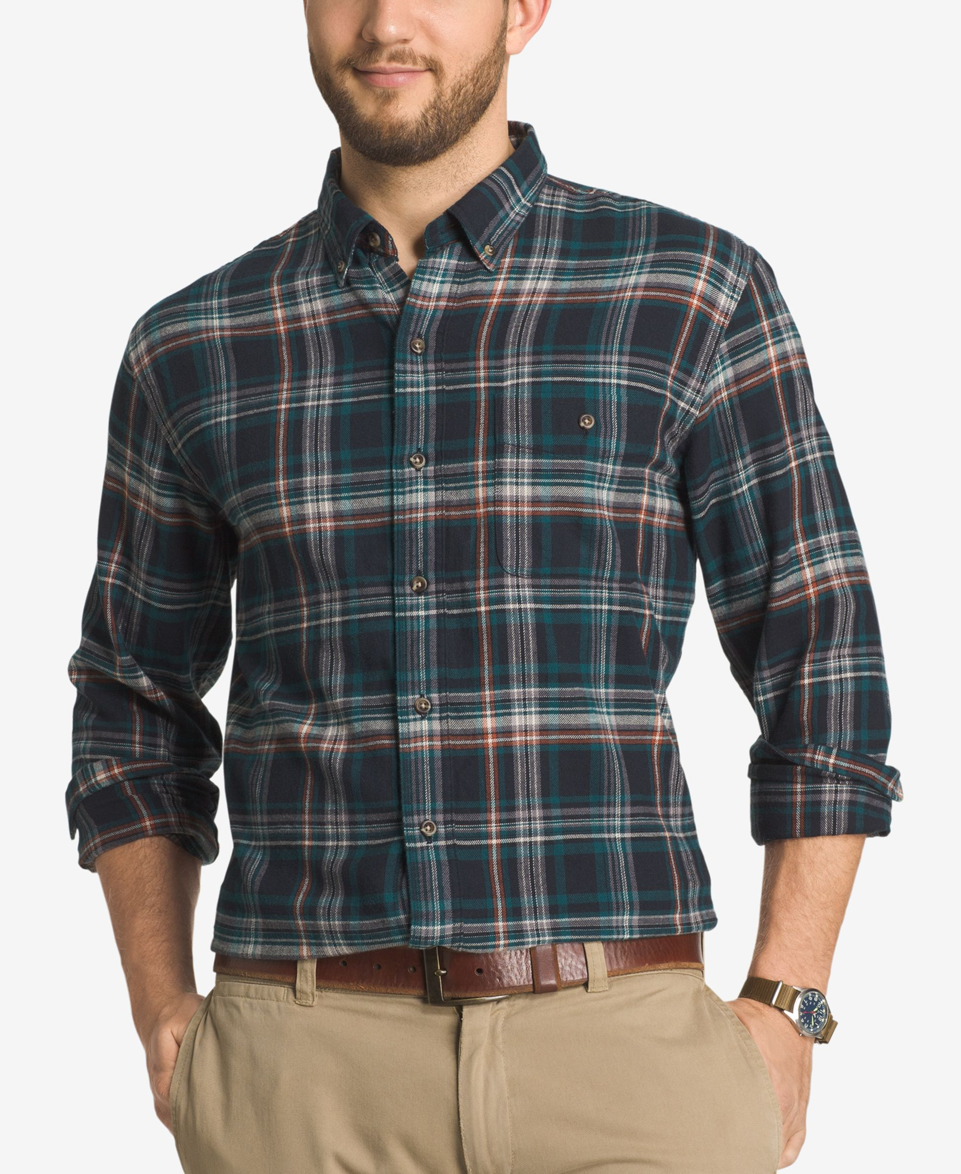 Flannel jackets with hood  Gh Bass u Co Menus Plaid Flannel LongSleeve Shirt  Products