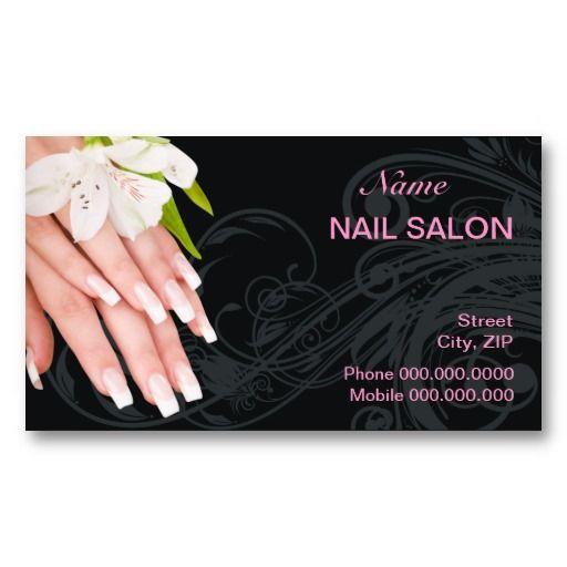 Nail Salon Business Card Zazzle Com In 2021 Nail Salon Business Cards Salon Business Cards Nail Salon