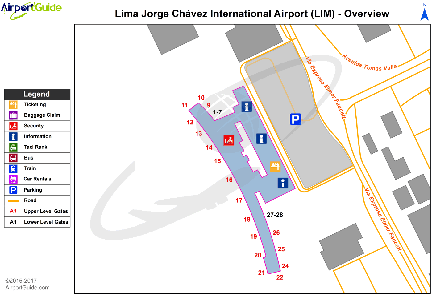 Lima Jorge Chavez International Lim Airport Terminal Map Overview Airport Guide Airport Map