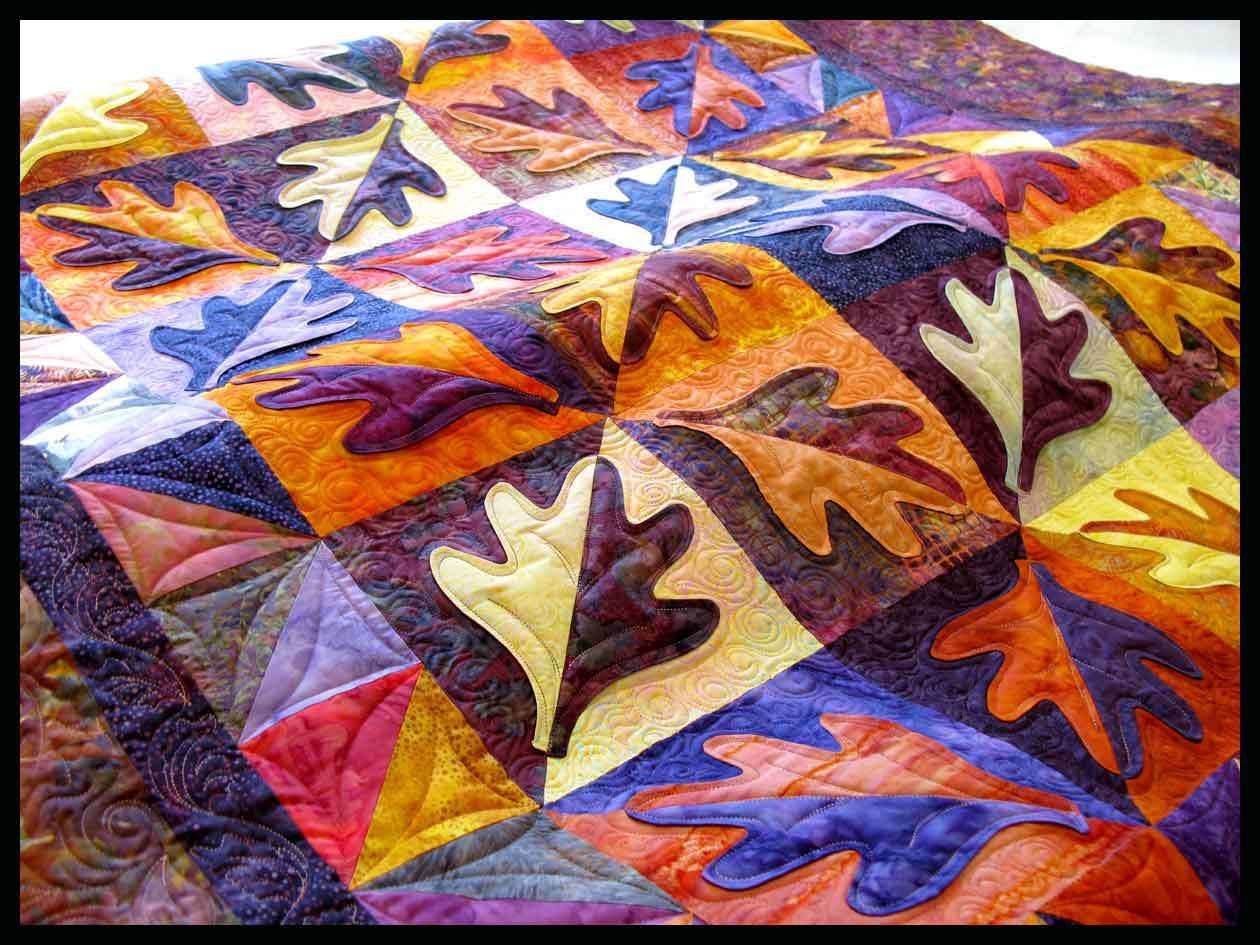 Autumn quilt finished | Feathered Fibers