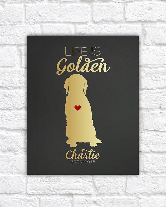 Golden Retriever Dog Gift Art Print