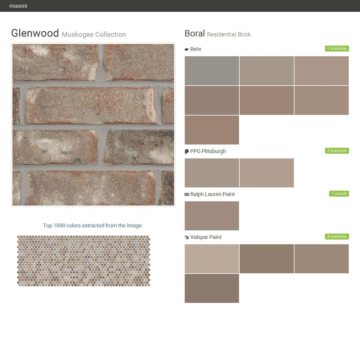Glenwood muskogee collection residential brick boral behr ppg paints ralph lauren paint - Breathable exterior masonry paint collection ...
