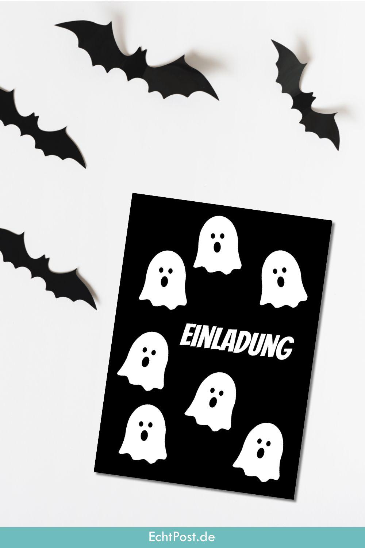 Einladungskarte Halloween als echte Postkarte verschicken