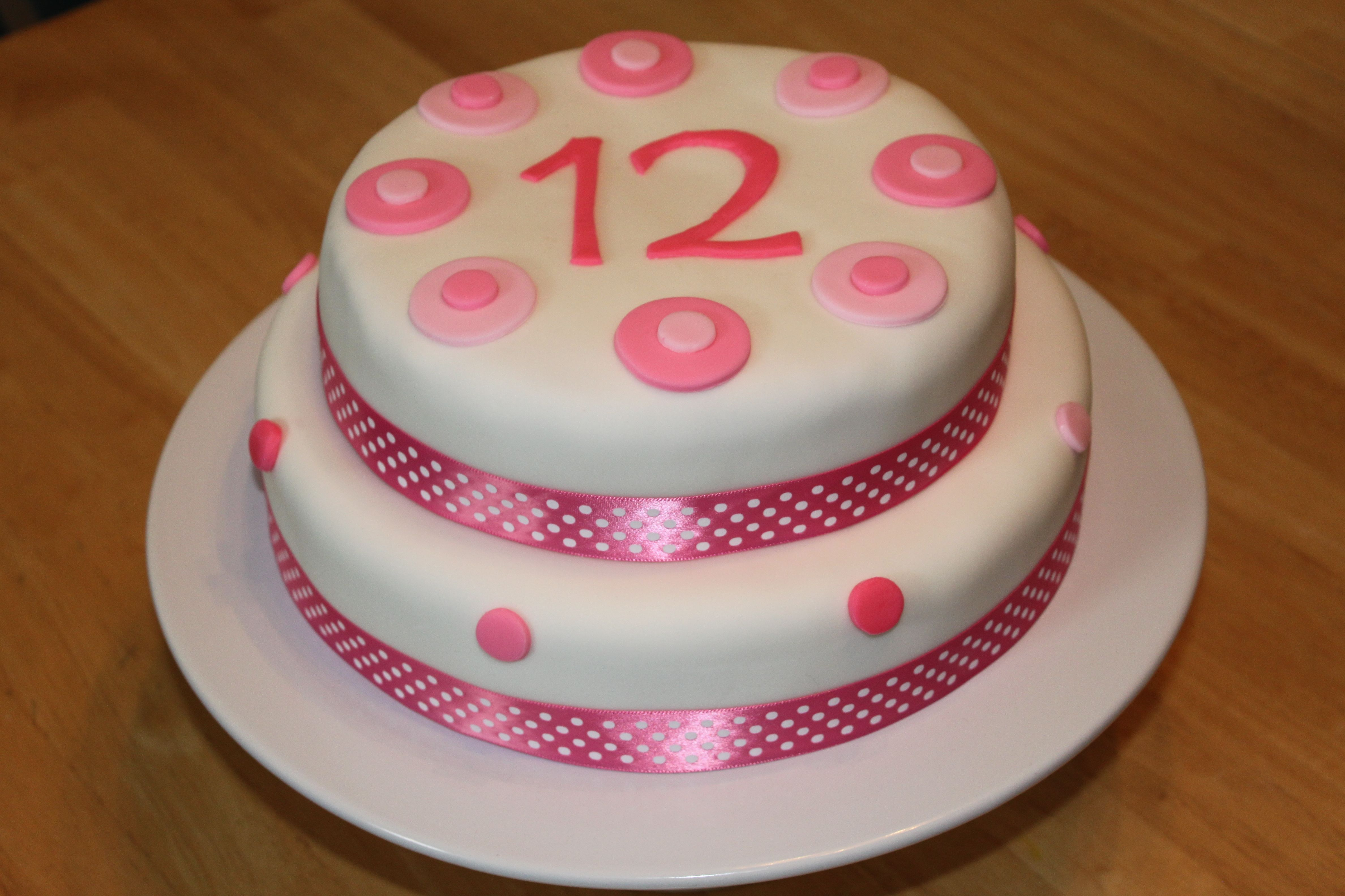 Pink And White Fondant Birthday Cake Things To Remember