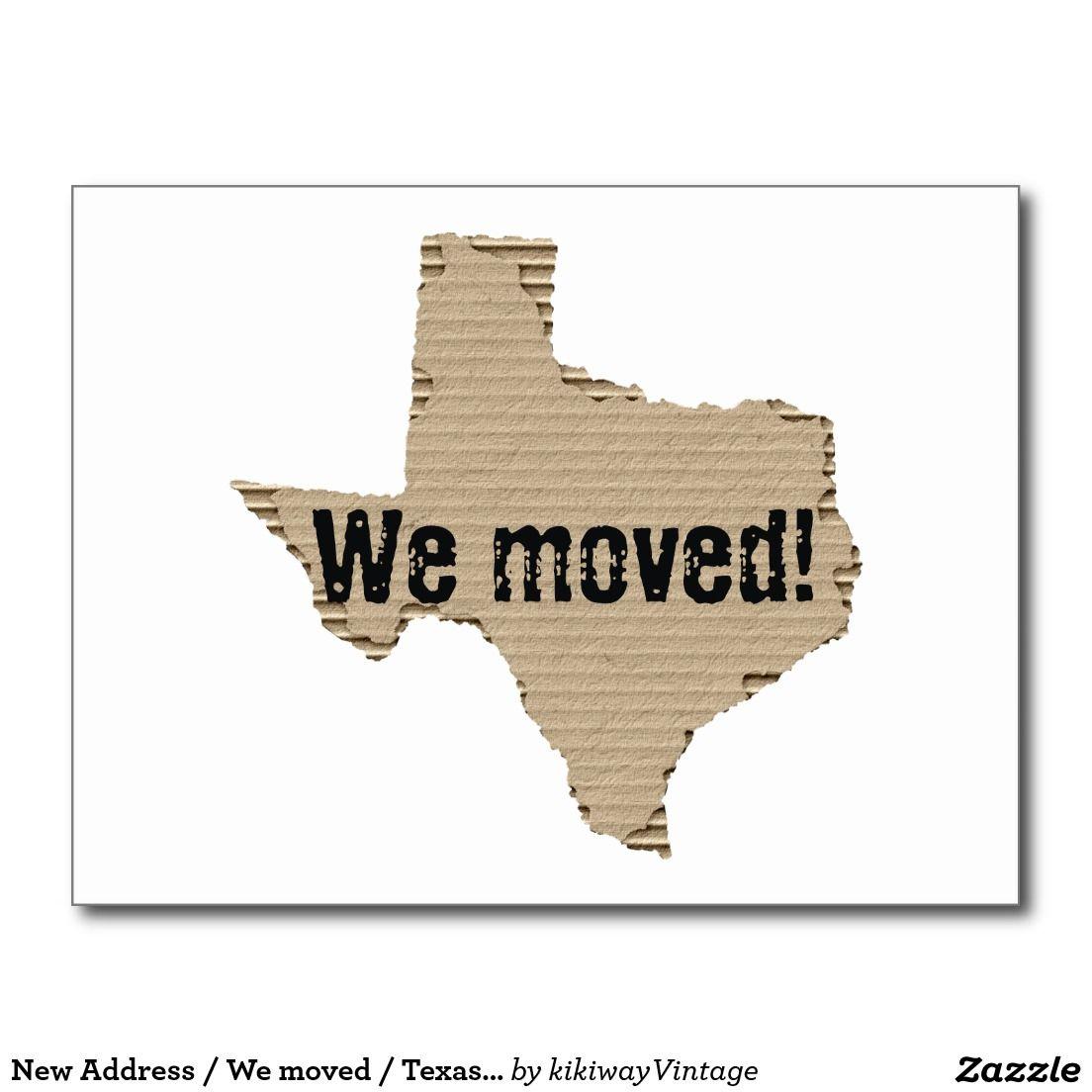 New address we moved texas cardboard box cut postcard change new address we moved texas cardboard box cut postcard kristyandbryce Gallery