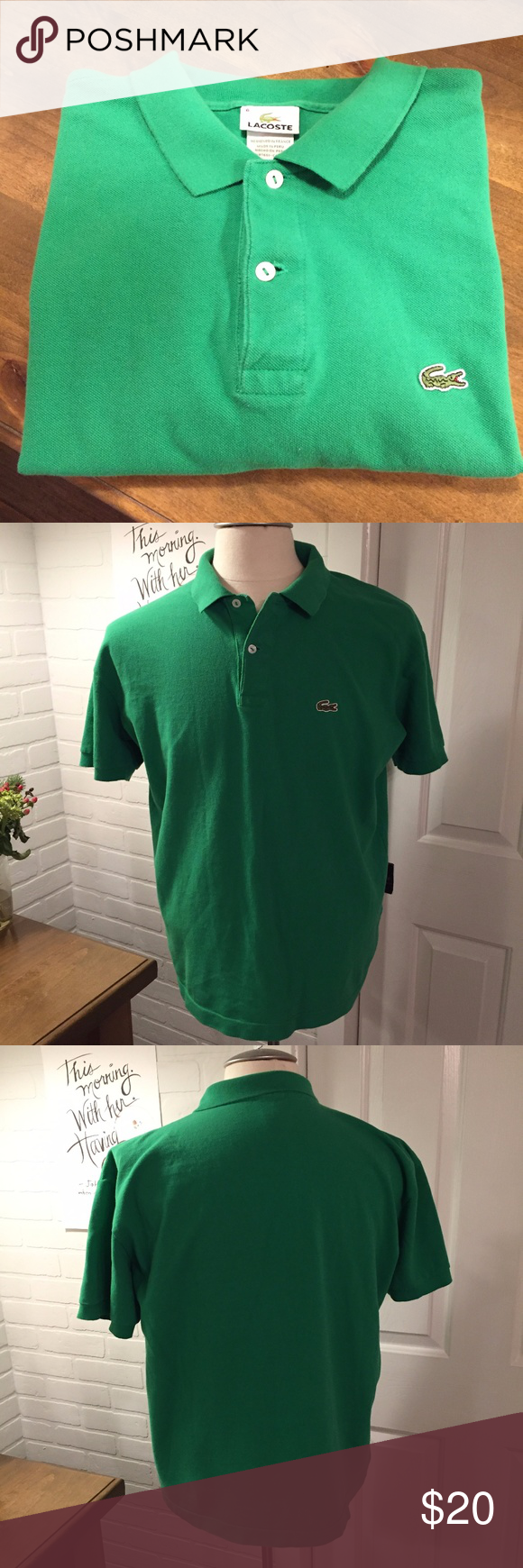 Lacoste Polo Shirt Size 6