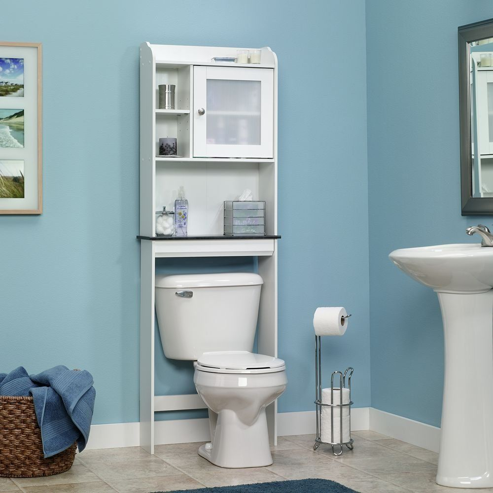 Sauder Caraway Etagere Bath Cabinet, Soft White Finish Sauder Like This One.