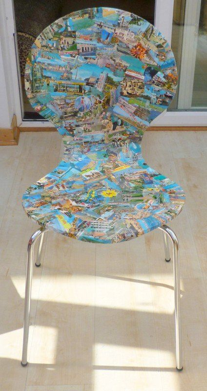 Upcycled Postcard Chairs | Decorating with Vintage ...