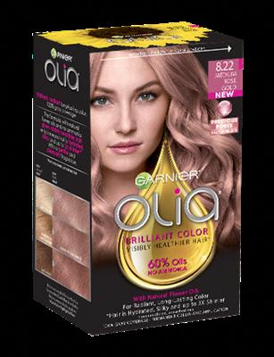 Olia 8 22 Medium Rose Gold Gorgeous Teñido Del Cabello Colores De Cabello Dorado Peinados Para Cabello Fino