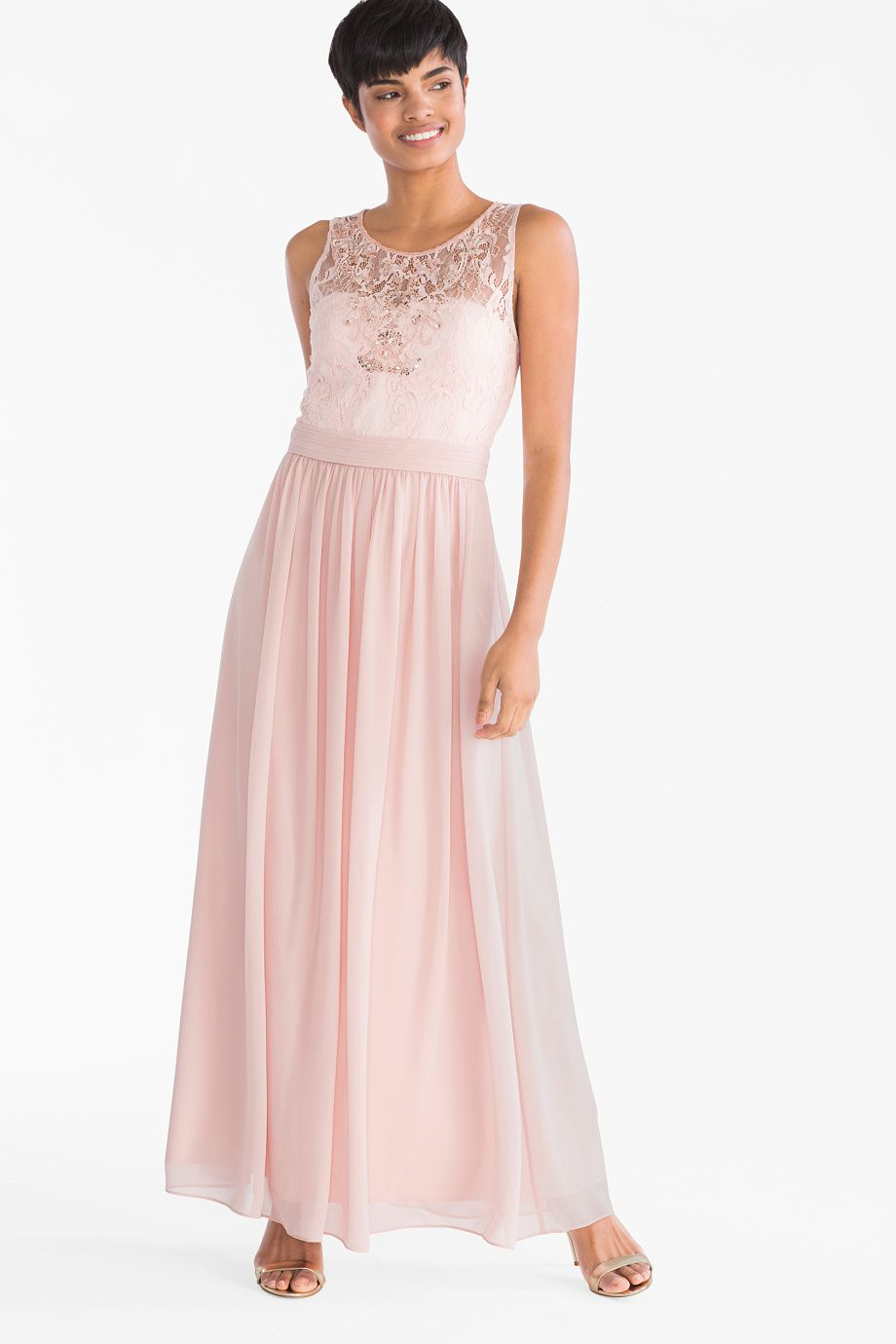 damen - fit & flare kleid - festlich - rosa | fit and flare