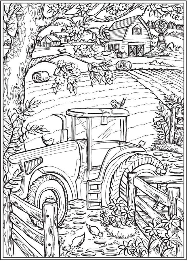 Creative Haven Country Farm Scenes - (doverpublications ...