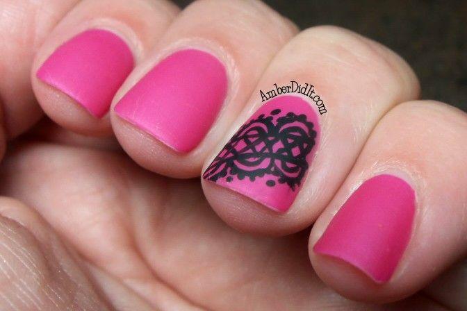 Nails Easy Lace Lace Pinterest