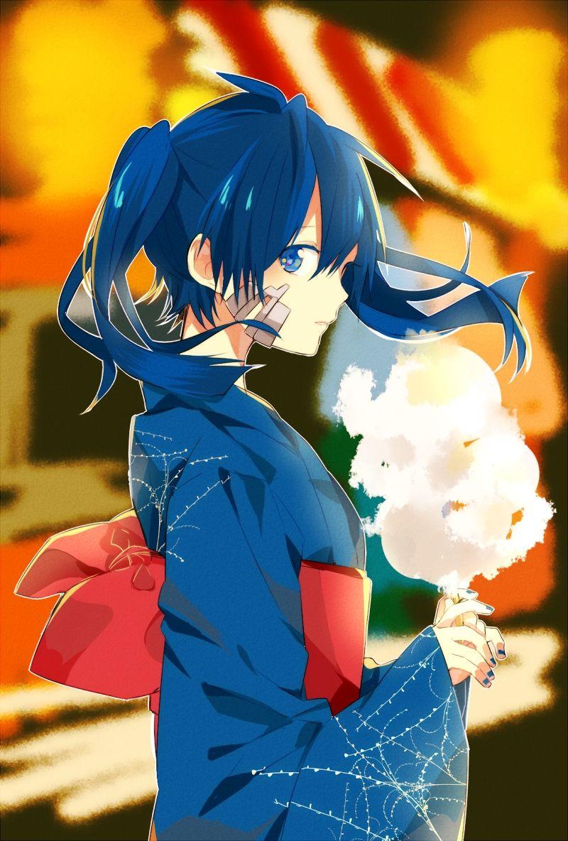 blue_eyes blue_hair candy enomoto_takane kagerou_project