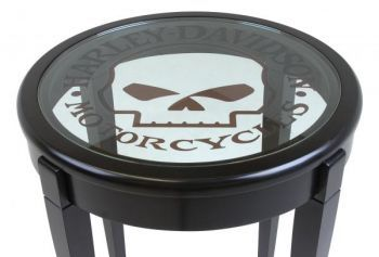 Mini Kühlschrank Harley Davidson : Harley davidson® glass top end table hd s t242 gt harley home