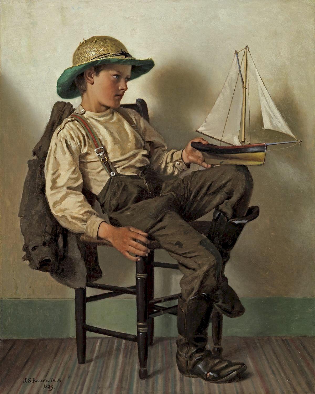John George Brown 1831 1913 A Young Aspiring Sailor 1200 1500 Crianças Ilustrações De Arte Fotografia Incrível