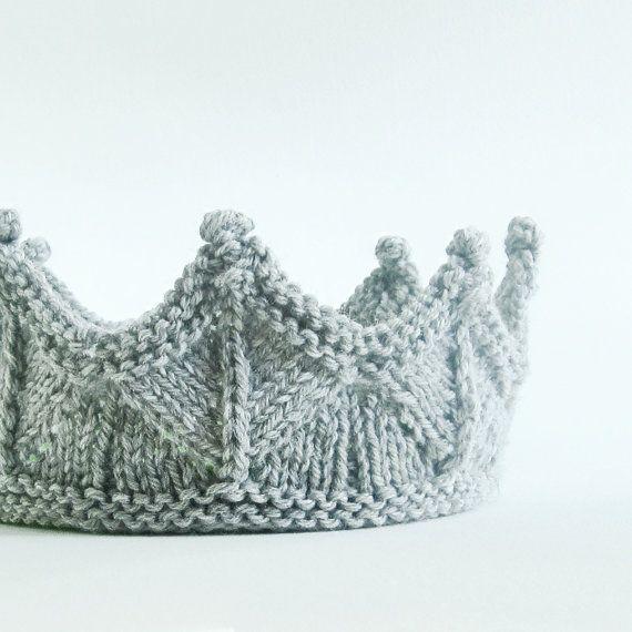 Ritter Krone Stirnband für unisex Anzieh, vorgeben spielen, Abenteuer spielen in Silber grau stricken Spitze stricken