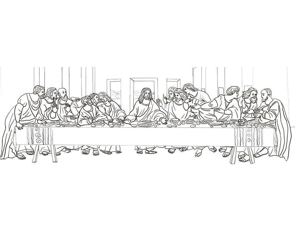 Imagenes De La Ultima Cena Para Pintar La Ultima Cena Ultima Cena De Jesus Dibujos