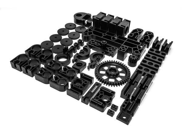 Velleman MP8200SET/SP: Black Plastic Spare Parts for K8200
