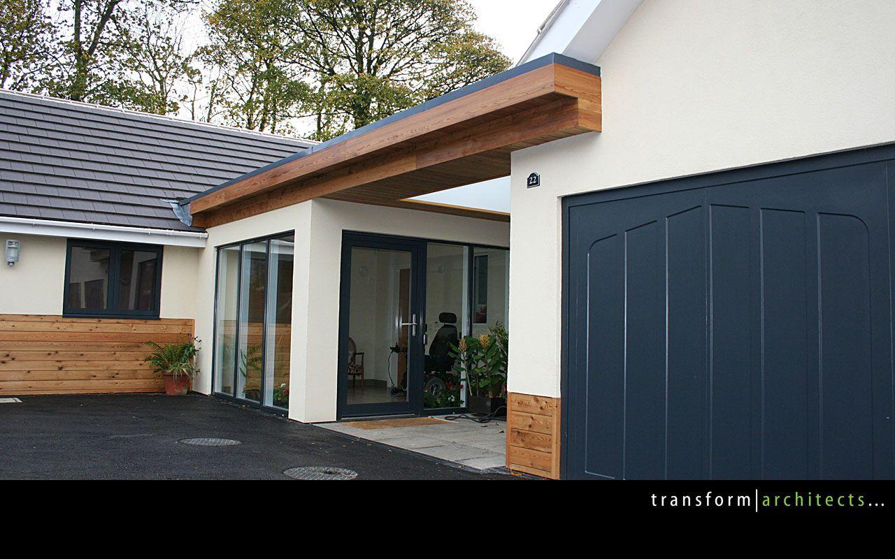 Nice Use Of Cladding Modern Barn Home Garage Doors