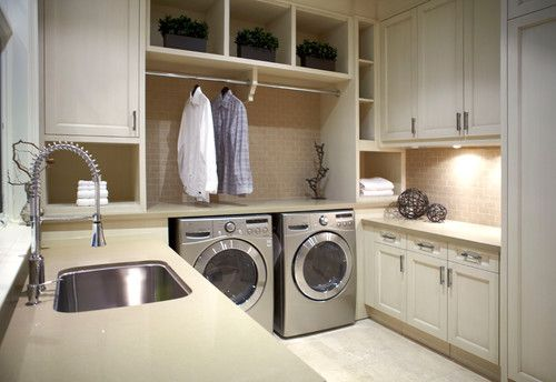 Laundry Room With An Area To Hang Clothes To Dry Laundry Design