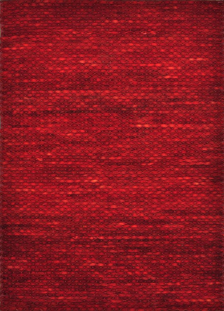 Royce red modern textured rug sangria for Red area rugs contemporary
