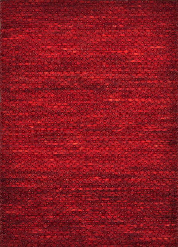 Modernrugs Com Royce Red Modern Textured Rug Sangria