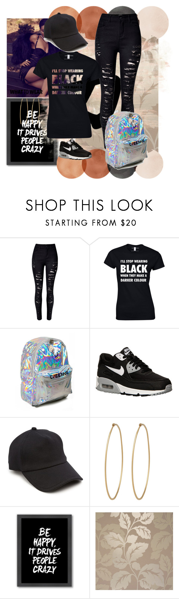 """""""Black is Beautiful ."""" by riahbreezy on Polyvore featuring WithChic, NIKE, rag & bone, Social Anarchy and Americanflat"""