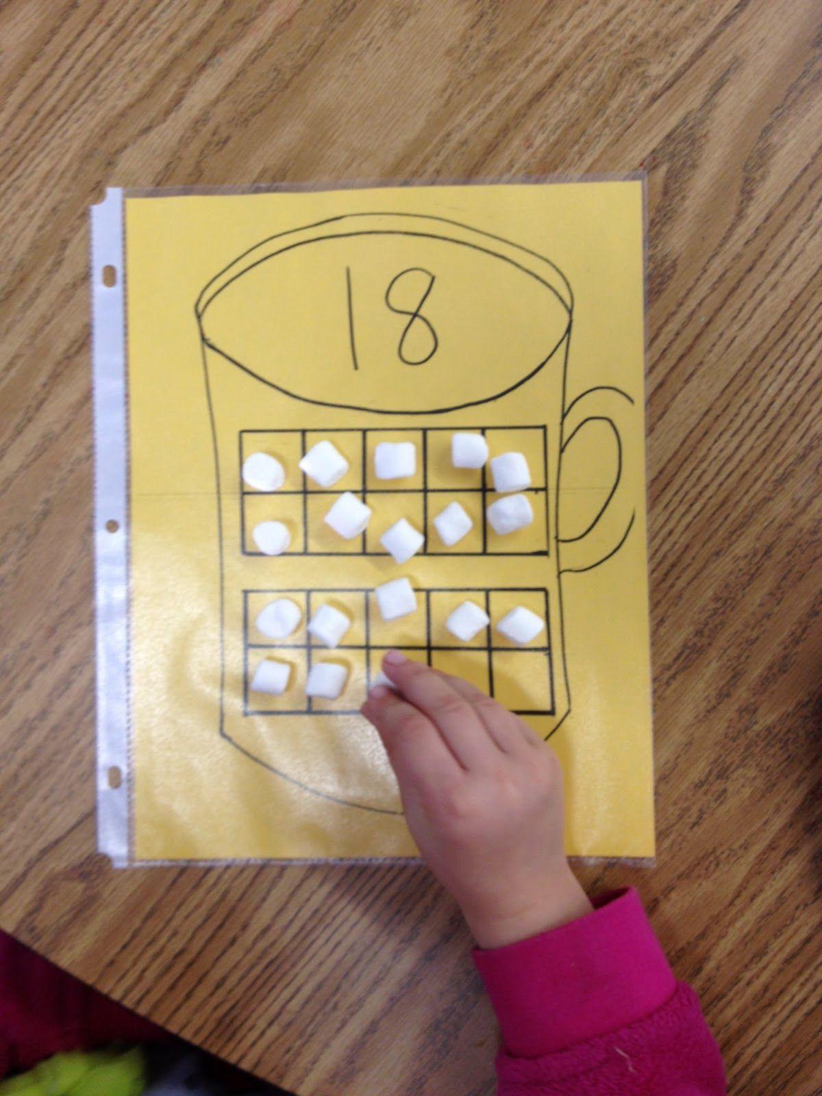 Ten Frame Practice Mugs And Mini Marshmallows