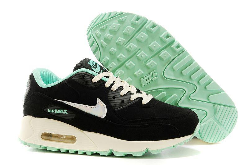 promo code 77eac 0432a ... promo code nike air max 90 womens mens shoes black blue cfc76 5a4a3