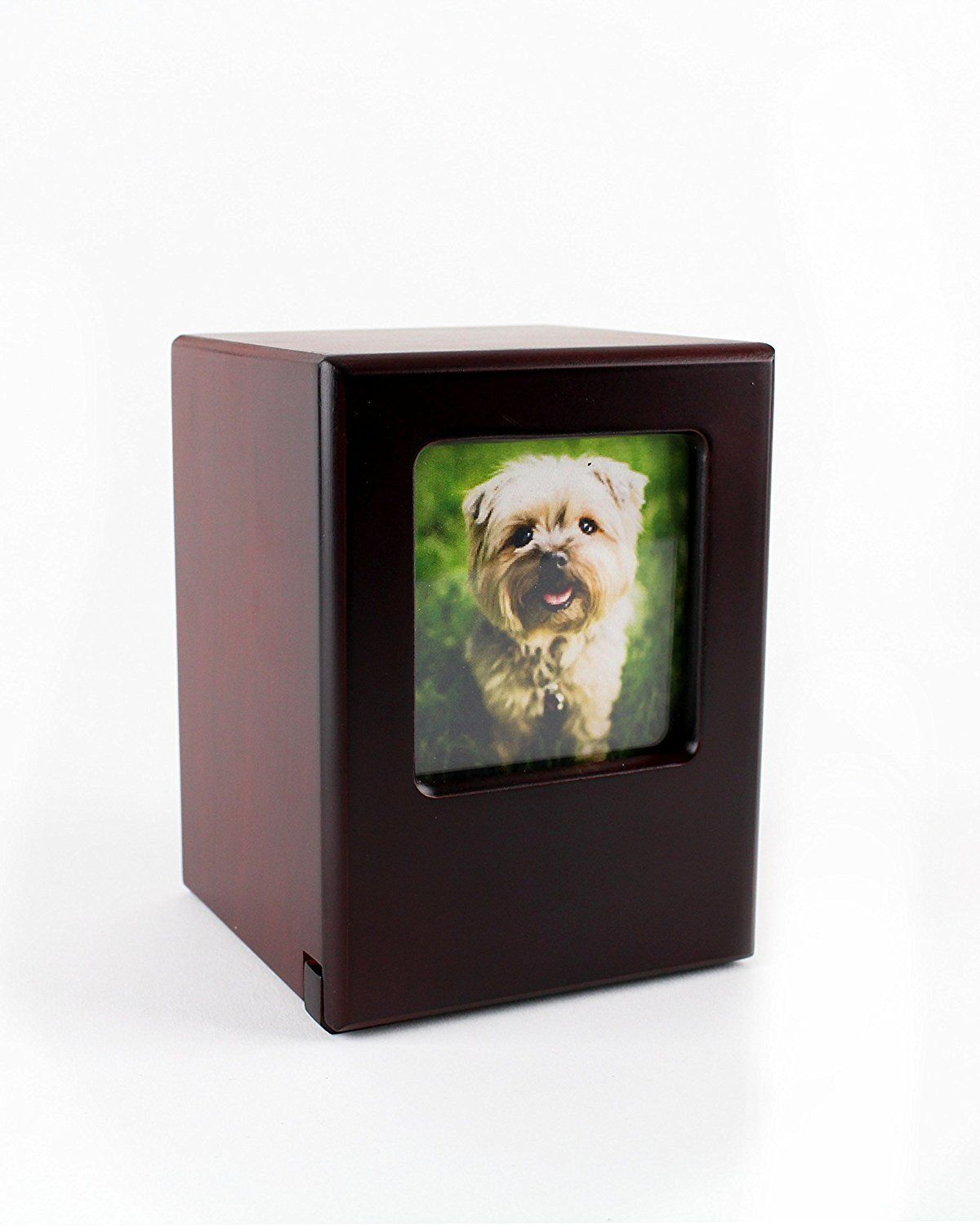 Picture Frame Memory Pet Urn In Black Cherry By Midlee You Can