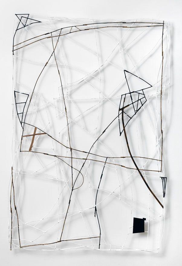 POS n°1, 2007, bois peint/painted wood, 150x100 cm / Francis Limérat